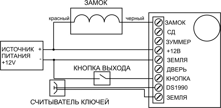 Схема подключения Пример